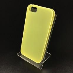 Чехол-накладка Usams iPhone 5c X-Match Series силикон желтый