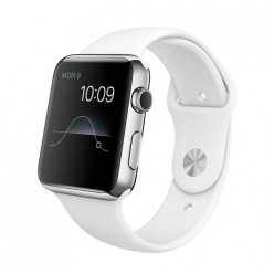 Apple Watch 42mm Stainless Steel Case with White Sport Band MJ3V2 Новый