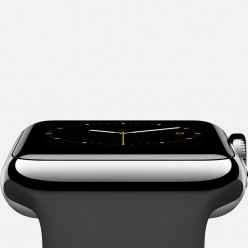 Apple Watch 38mm Stainless Steel Case with Black Sport Band MJ2Y2 Новый