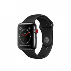 Apple Watch Series 3 (GPS + Cellular) 42mm Space Black Stainless Steel w. Black Sport B. (MQK92)