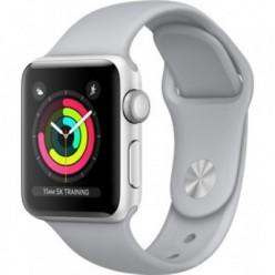 Apple Watch Series 3 (GPS) 38mm Silver Aluminum w. Fog Sport B. - Silver (MQKU2)