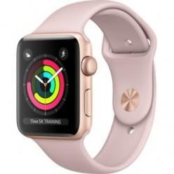 Apple Watch Series 3 (GPS) 42mm Gold Aluminum w. Pink Sand Sport B. - Gold (MQL22)
